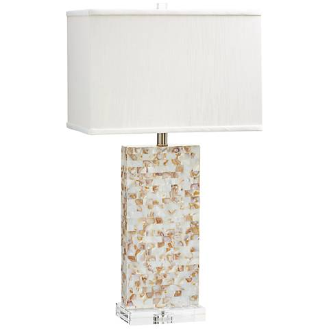 Palm Sands Mother of Pearl Table Lamp