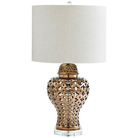 Casablanca Bronze Ceramic Table Lamp