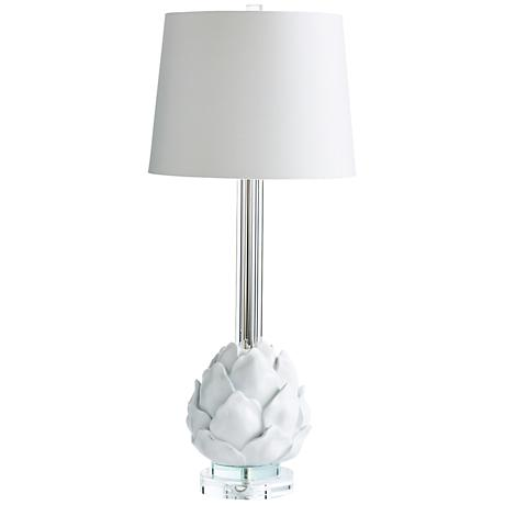 Petal Wall Lamp And Decor : Chloe Artichoke Petal Table Lamp in White - #6P318 Lamps Plus