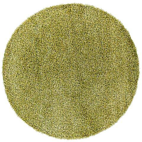 Chandra Zara ZAR14511 Green and Yellow Shag Rug