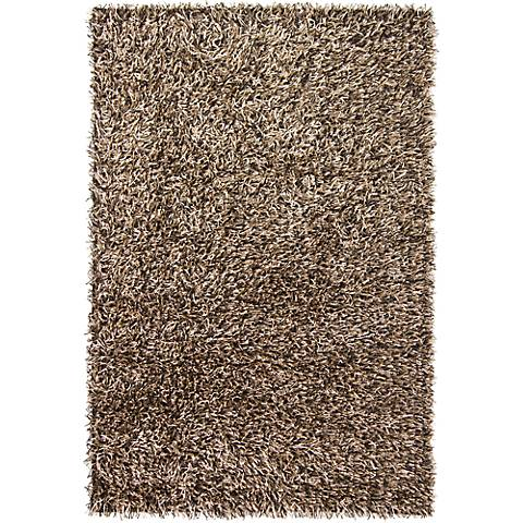 Chandra Zara ZAR14513 Black and Cream Shag Rug