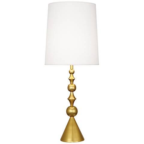 Jonathan Adler Harlequin Antique Brass Table Lamp