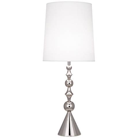 Jonathan Adler Harlequin Polished Nickel Table Lamp