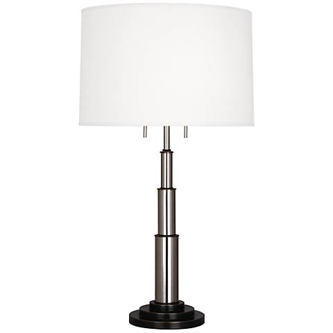 Robert Abbey Magellan Silver and Bronze Table Lamp