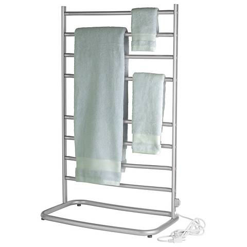 "Hyde Park 39"" High Nickel Plug-In Towel Warmer"