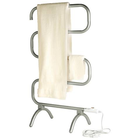 "Warmrails 37 1/2"" High Plug-In Clasic Nickel Towel Warmer"