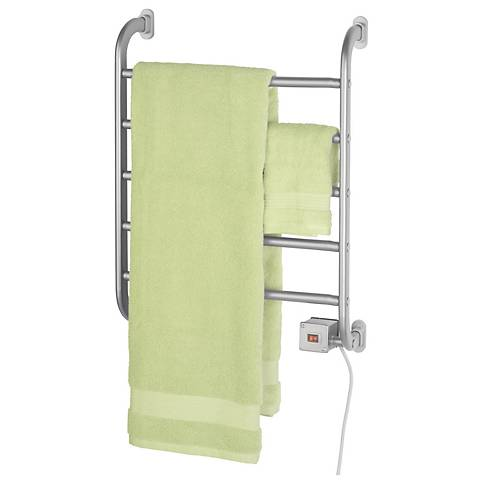 "Regent 22 1/4"" High Wall Mounted Towel Warmer in Nickel"