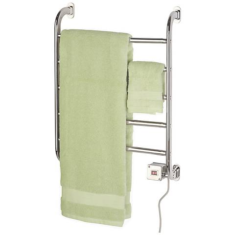 "Regent 22 1/4"" High Wall Mounted Towel Warmer in Chrome"
