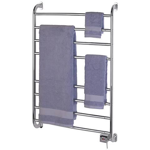 "Kensington 39 1/2"" High Wall Mounted Chrome Towel Warmer"