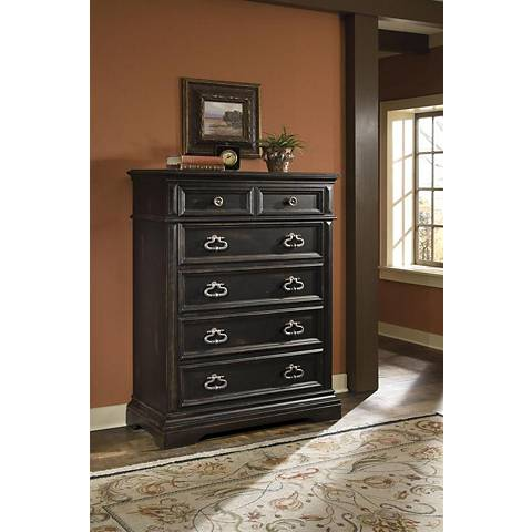 Brookfield Black Rubbed 5-Drawer Chest