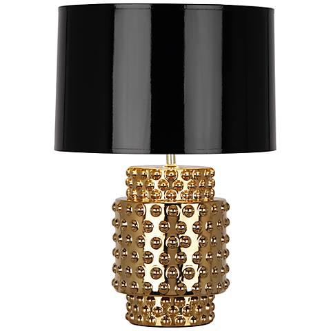 Robert Abbey Dolly Black Shade Gold Glaze Table Lamp