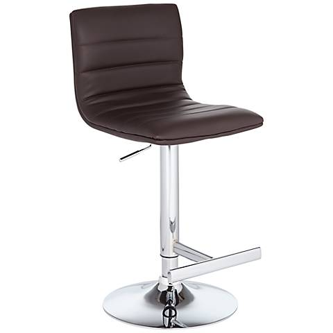 Motivo Brown Faux Leather Adjustable Barstool