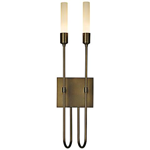 "Hubbardton Forge Lisse 2-Light 22 1/4"" High Wall Sconce"