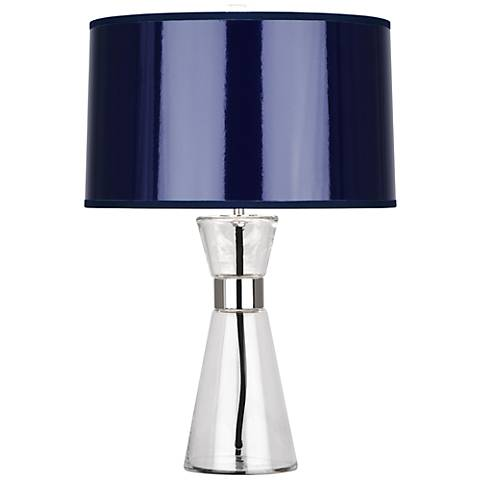 Robert Abbey Penelope Small Navy Blue Shade Table Lamp