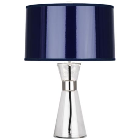 abbey penelope small navy blue shade table lamp 6p867 lamps plus. Black Bedroom Furniture Sets. Home Design Ideas