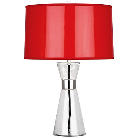 Robert Abbey Penelope Small Red Shade Accent Table Lamp