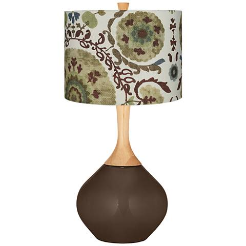 Carafe Green Floral Paisley Wexler Table Lamp