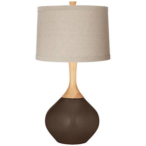 Carafe Natural Linen Drum Shade Wexler Table Lamp