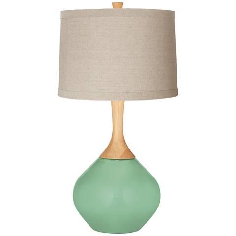 Hemlock Natural Linen Drum Shade Wexler Table Lamp
