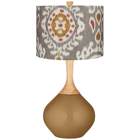 Gray Batik Paisley Gray Batik Paisley Wexler Table Lamp