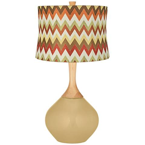 Humble Gold Red and Brown Chevron Shade Wexler Table Lamp