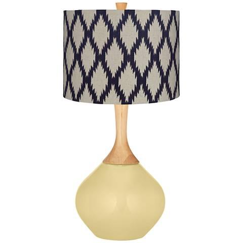 Butter Up Beige Diamonds Wexler Table Lamp