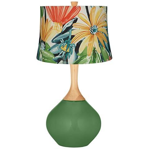 Garden Grove Multi-Color Daisies Wexler Table Lamp