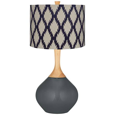 Black of Night Beige Diamonds Wexler Table Lamp