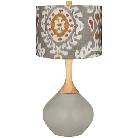 Requisite Gray Batik Paisley Wexler Table Lamp