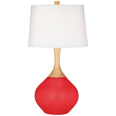 Poppy Red Wexler Table Lamp