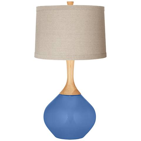 Dazzle Natural Linen Drum Shade Wexler Table Lamp