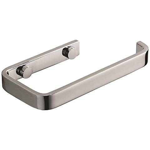 Solange Polished Chrome Bar Toilet Paper Holder
