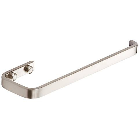 "Solange Brushed Nickel 9 1/2"" Wide Hand Towel Holder"