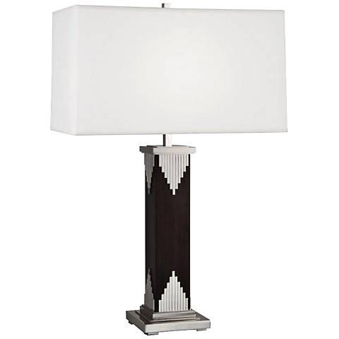 Wentworth Dark Walnut Polished Nickel Table Lamp