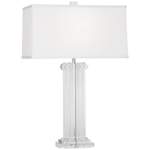 Wythe White Silk Shade Table Lamp