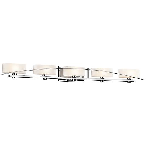 "Kichler Suspension 50 3/4"" Wide Chrome 5-Light Bath Light"