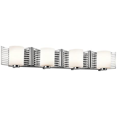"Kichler Selene 32 1/4"" Wide Chrome Cased 4-Light Bath Light"