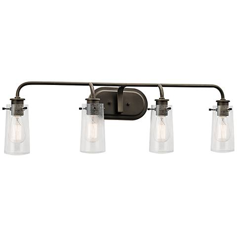 "Kichler Braelyn 34 1/4"" Wide Olde Bronze 4-Light Bath Light"