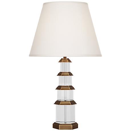 ming antique brass table lamp 6r157 lamps plus. Black Bedroom Furniture Sets. Home Design Ideas