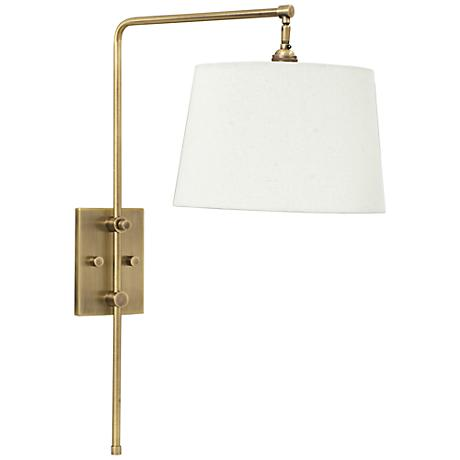 House of Troy Crown Point Antique Brass Swing Arm Wall Lamp - #6R187 Lamps Plus