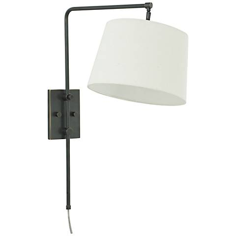 House of Troy Crown Point Oil Rubbed Bronze Swing Arm Lamp