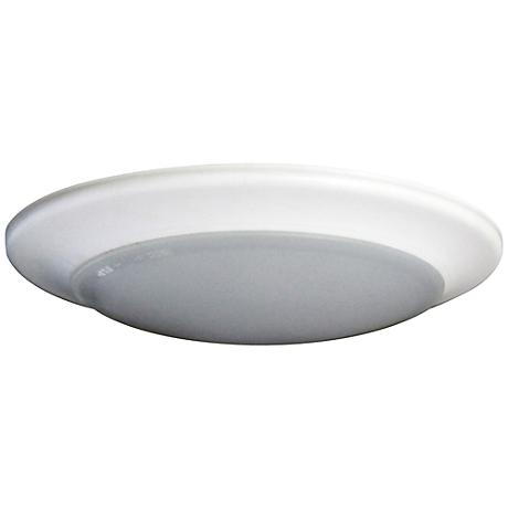 "4"" Disk Surface Mount 12 Watt LED Retrofit Trim in White"