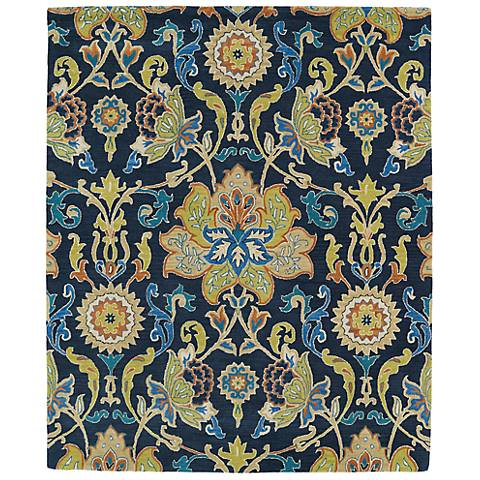 Kaleen Taj TAJ02-22 Navy Blue Wool Area Rug