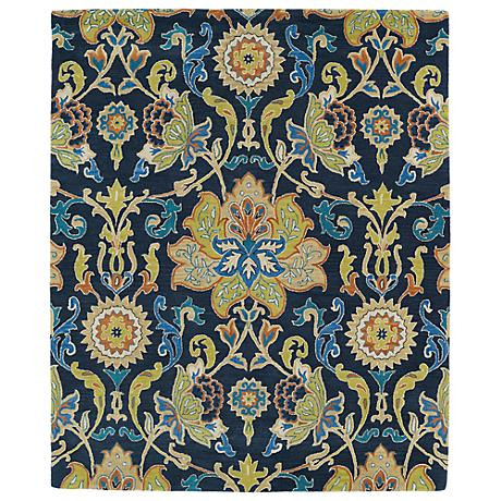 Kaleen Taj TAJ02-22 Navy Blue Wool Area Rug