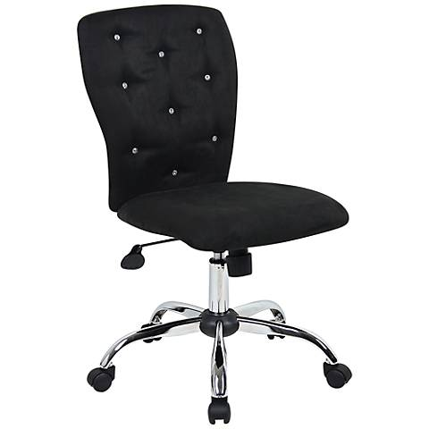 Tiffany Black Microfiber Adjustable Office Chair