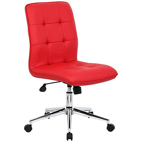 Modern Red Adjustable Office Chair