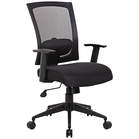 Boss Black Mesh Fabric Adjustable Task Chair