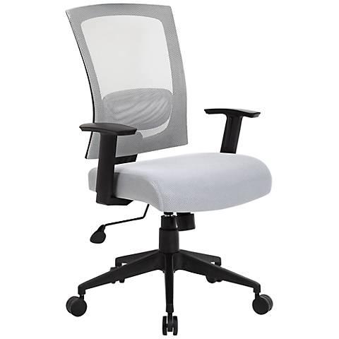 Boss Gray Mesh Fabric Adjustable Task Chair