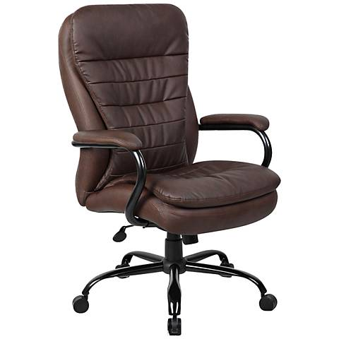 Boss Heavy Duty Brown Adjustable Office Chair