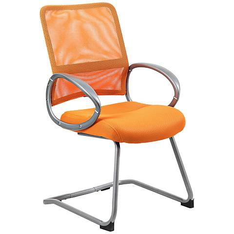 Boss Mesh Back Orange Reception Chair